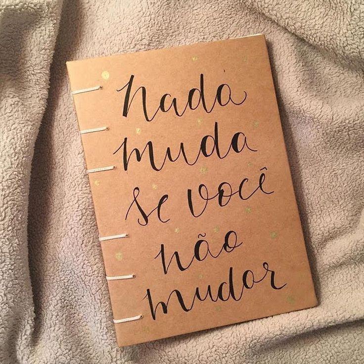 Caderno com frase personalizada