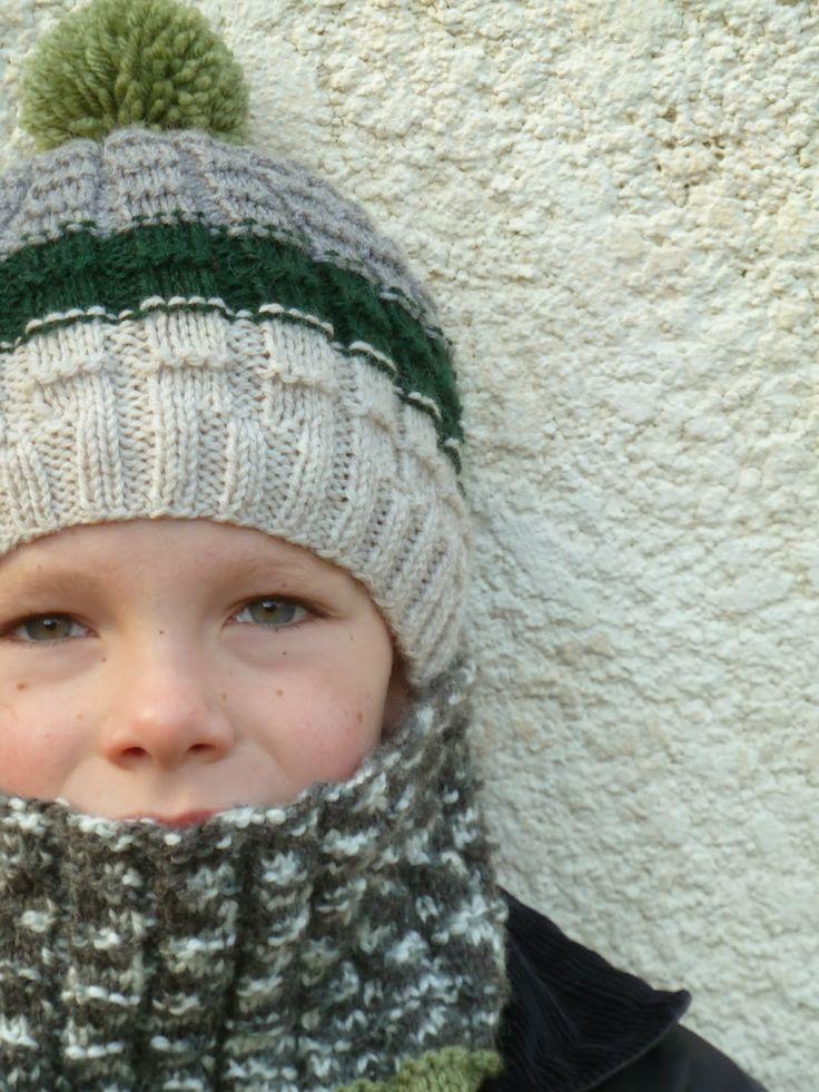 Ainsi font les petites ...: C'est l'hiver ! Tuto pour un bonnet et son col texturé