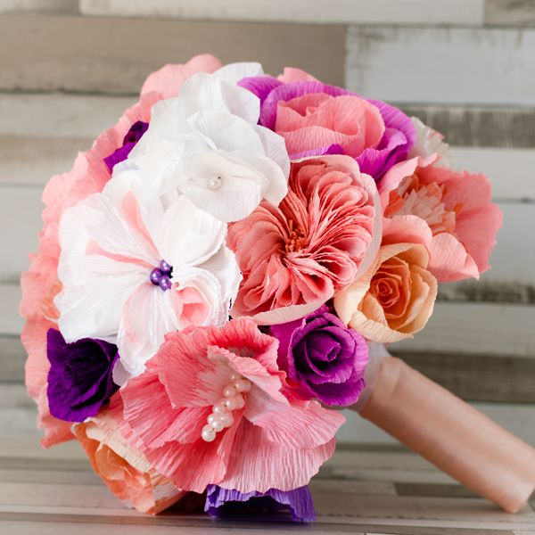 Product ID: BC0023We custom make colorful paper flower bouquets.Paper flower bouquets are very suitable for religious or civil ceremony. Keep forever the memory of the most beautiful moment of your life!All our products are handmade.This bouquet can be done in medium or large size.For prices please send me an email with the product ID at hello@thediywedding.comImpress! Be unique! Be creative!We believe we can help you have the most amazing wedding! Call us!