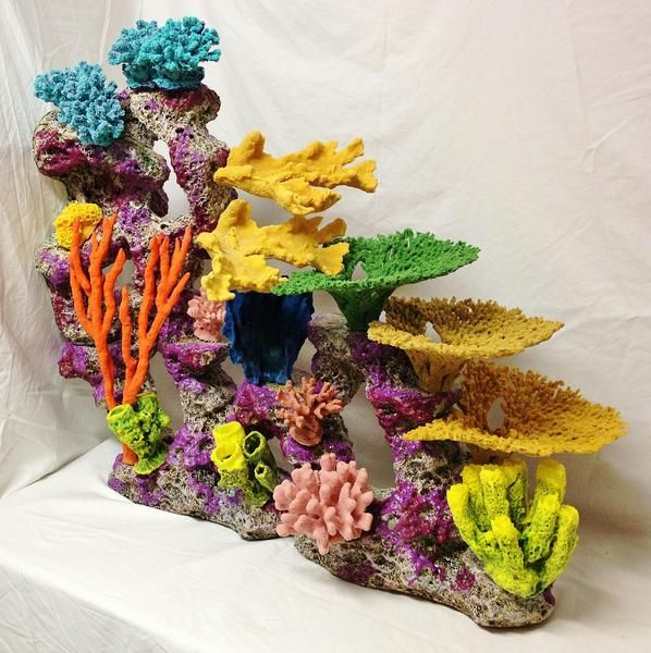 136 best images about fake creations on pinterest fish for Artificial coral reef aquarium decoration inserts