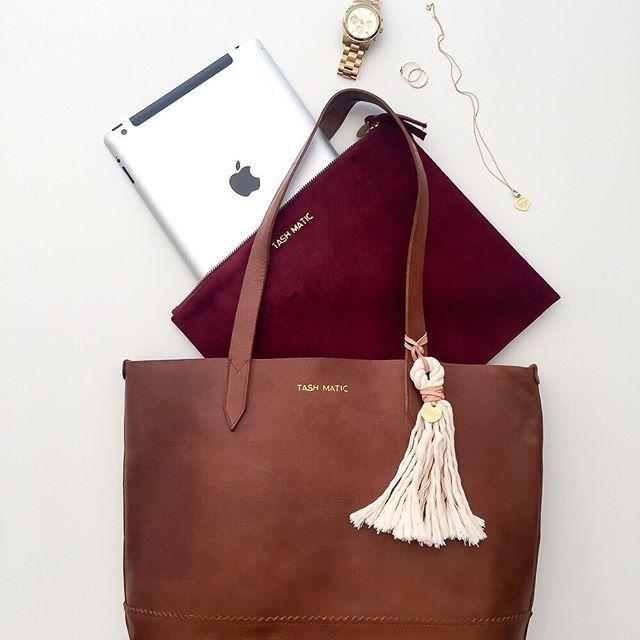 Harlow Tote & Audrey iPad Clutch. Handmade leather bags for every adventure.  (scheduled via http://www.tailwindapp.com?utm_source=pinterest&utm_medium=twpin)