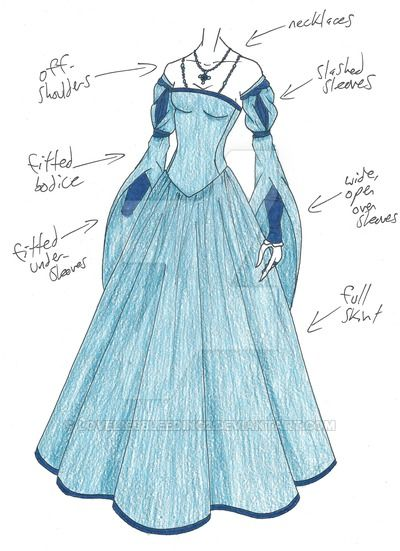 PLEASE NOTE: I do not allow any use of my designs.</i> Another gown design for an Italian Renaissance character...and again, more semi-Henry VIII era than what I want...but we'll see. I just ...