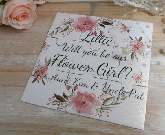 Will you be my Bridesmaid, Will You Be my Flower girl, Maid of Honor  Will you be my Bridesmaid Puzzle Proposal Card This listing is for One puzzle