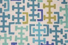 Richloom Sinclair Printed Cotton Drapery Fabric in Oceana $8.95 per yard