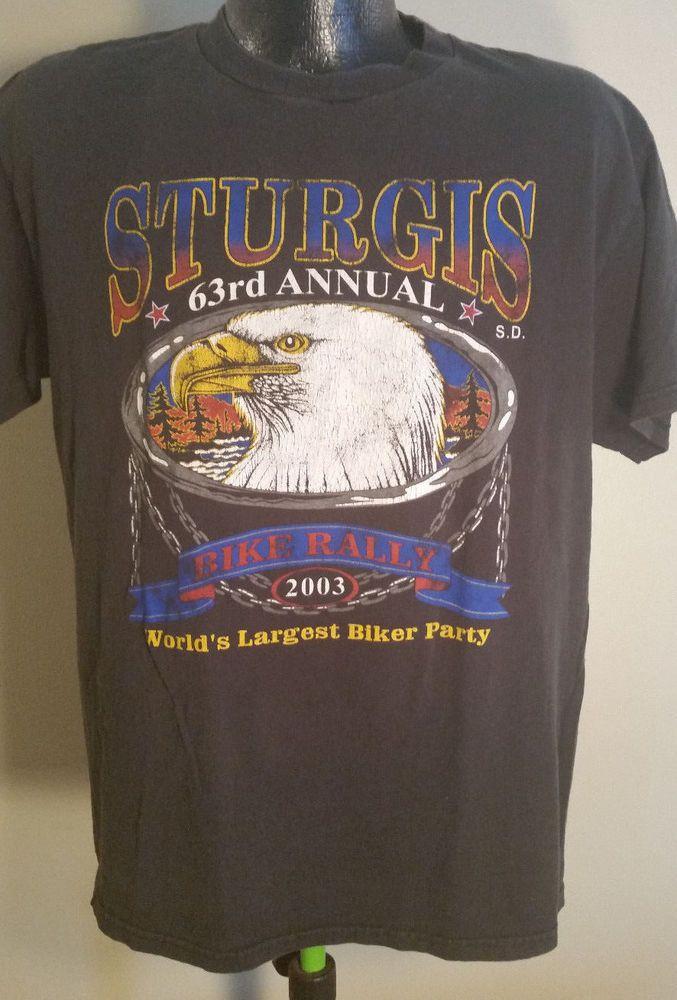 Mens Medium Harley Davidson 63rd Annual Sturgis 2003 Biker Rally Party T-Shirt | Clothing, Shoes & Accessories, Men's Clothing, T-Shirts | eBay!