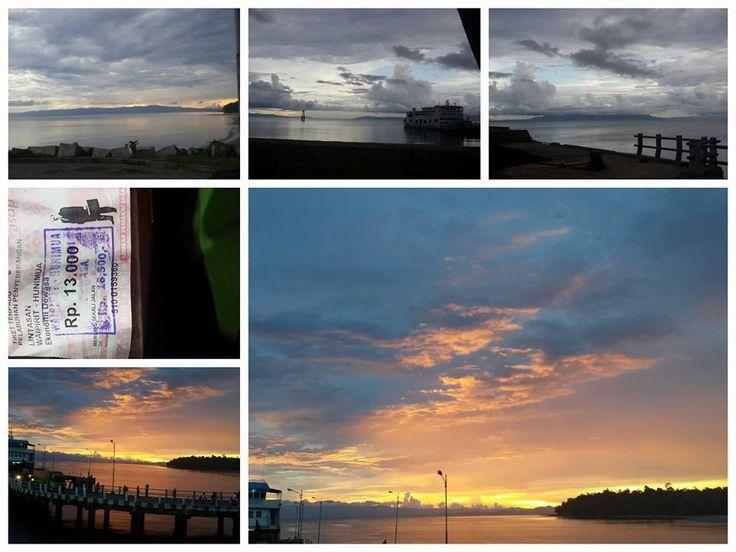 sunset @pelabuhan waipirit - hunimia, pulau Seram