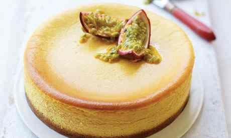 Eric Lanlard's white chocolate and passion fruit cheesecake