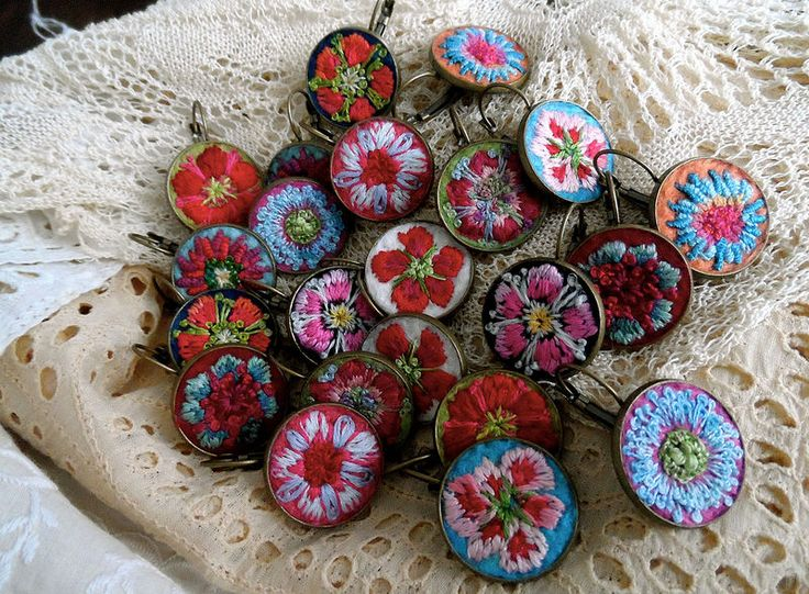 flower earrings by barbara schär
