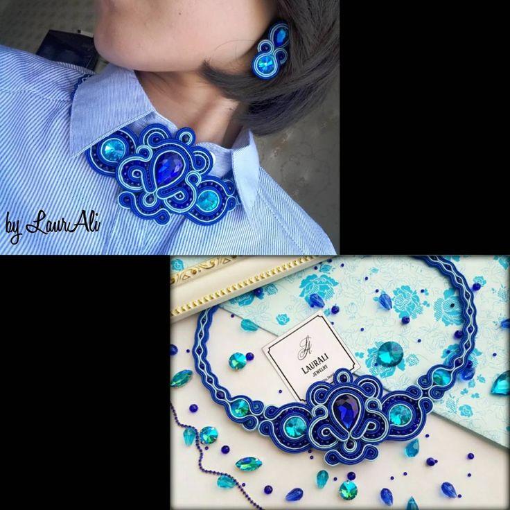 Стильно и неповторимо!!! Колье и серьги в наличии.  По всем вопросам в direct  #bylaurali #jewelry #amazing #beautiful #look #soutache #мода #стиль  #girl #women #love #астана #серьги #вналичии #fashion #sale #lady #ladycollection #collection #праздник #style #acssesories #luxury #аксесуары #кисти #колье