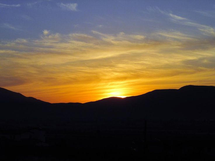 The sun setting behind the mountains in the Valle de Guadalupe*  Ensenada, Baja California, Mexico #sunset