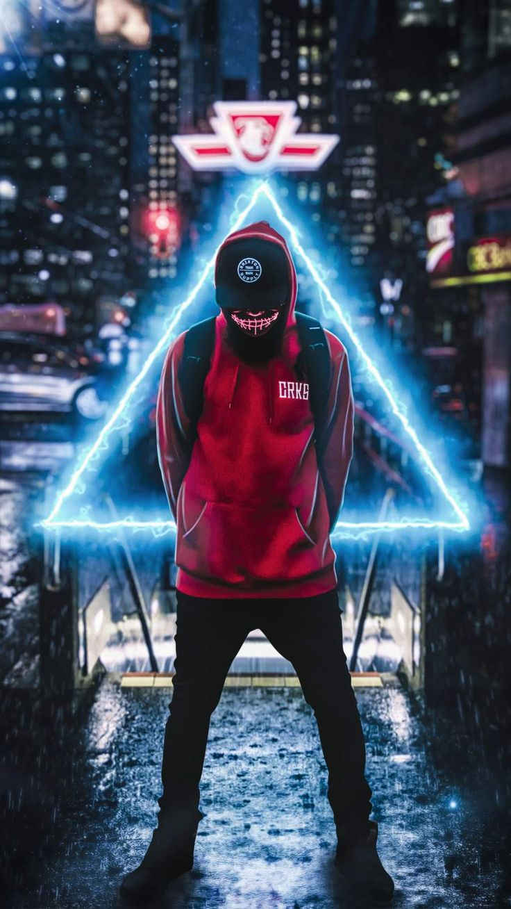 Hoodie Guy Triangle iPhone Wallpaper Cool wallpapers for