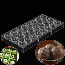 Round Ball Polycarbonate Chocolate Mold Clear Mould DIY Handmade Baking Tools(China (Mainland))
