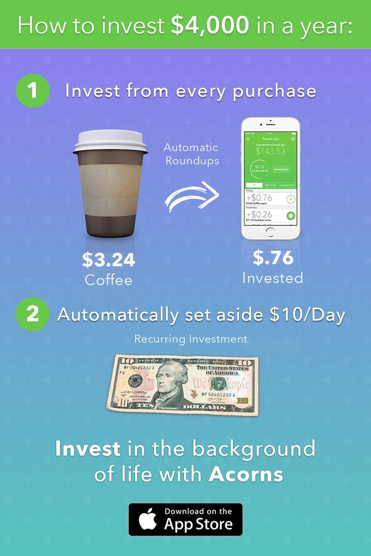 Setting aside $4,000 a year to invest may not be as out of reach as you think. Download Acorns Today!