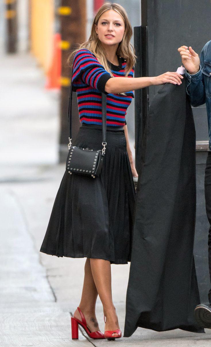 Melissa Benoist Star Fashion Celebrity Street Style Outfits
