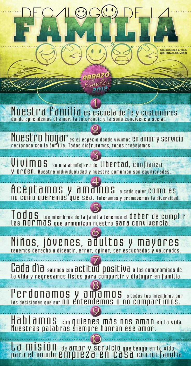 Decalogo de la #Familia, dia del #abrazoenfamilia