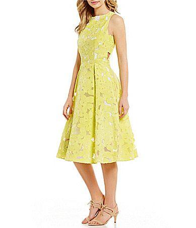 Antonio Melani Leta Organza JacquardChemical Lace Midi Dress #Dillards
