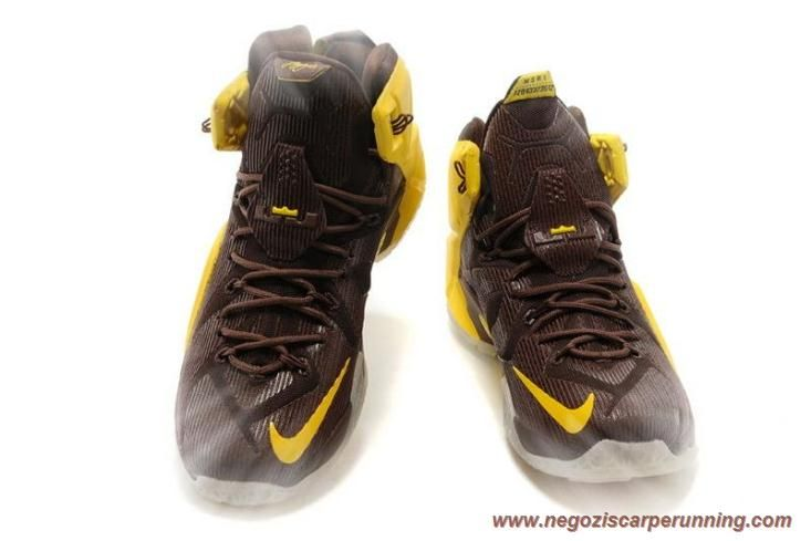 Uomo Nike Lebron 12 P.S. Elite Giallo/Marrone 684593-013 palloni da calcio