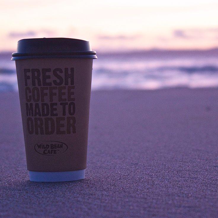 Coffee on the beach before sunrise