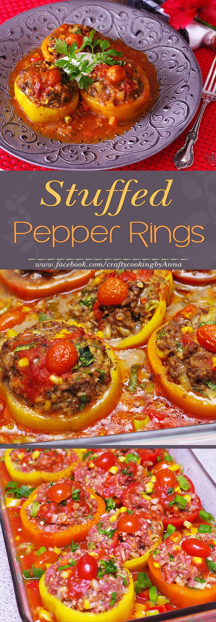 Stuffed Pepper Rings! #Easy #Delicious #Dinner