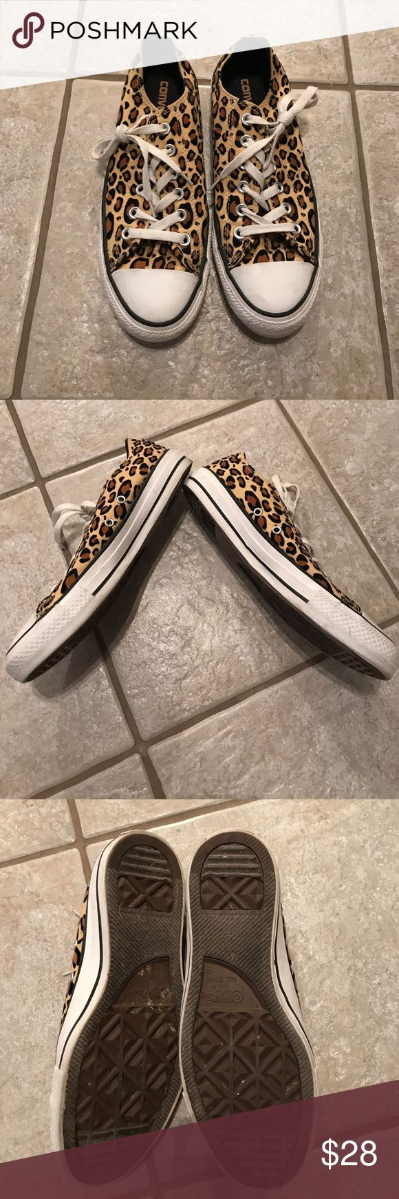 Converse shoes Converse leopard print Converse Shoes Sneakers