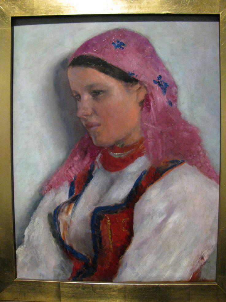 """""""Girl from Bronowice."""" (c. 1893-1894) by Aleksander Gierymski. National Museum, Warsaw."""