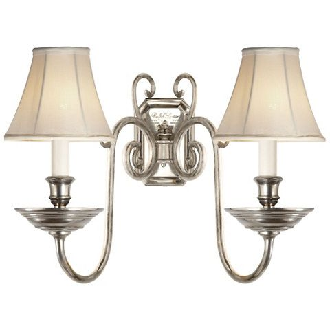 Lillianne Double Sconce in Butler's Silver - Wall Lamps / Sconces - Lighting - Products - Ralph Lauren Home - RalphLaurenHome.com