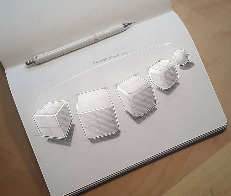 Sketchbook 2016 (Part 2) on Behance dibujo de cubos