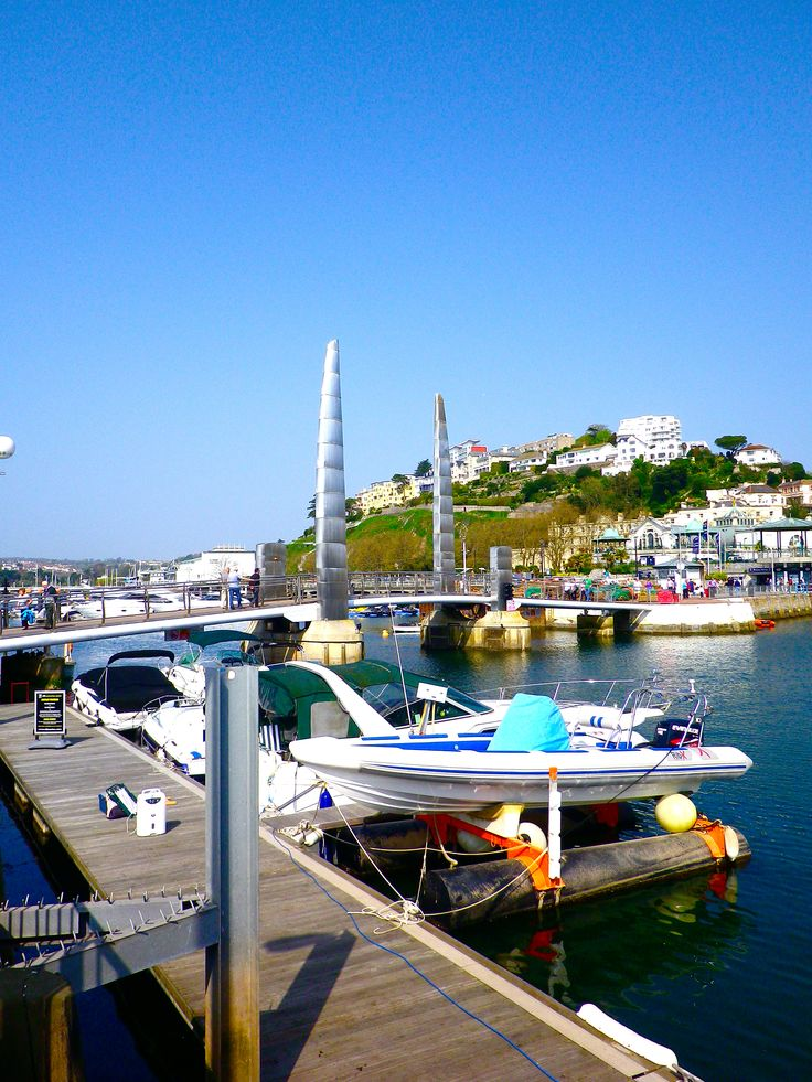 Dazzling is the sight of Torquay, Devon, UK. Torquay was the first seaside town in England that I visited.