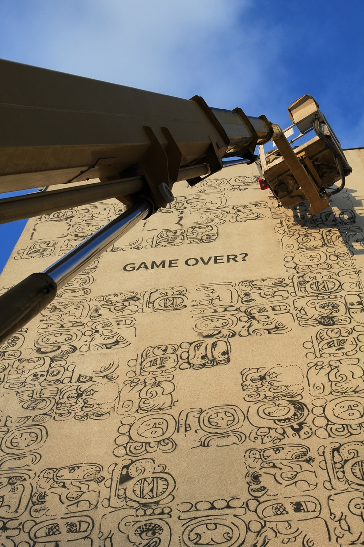 Mayamural Day 2 - 7 dec 2012; part 3 #streetart #graffiti #krakow #maya #mayas #2012