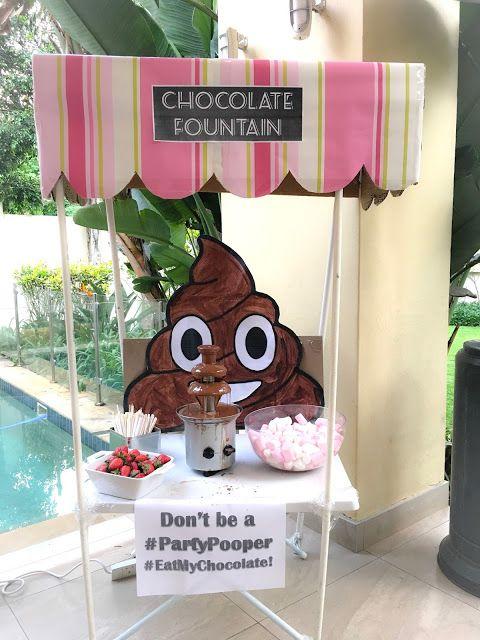 Emoji Party Outdoor Cinema Chocolate Fountain Market Stall Idea Cute Poop