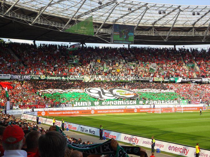 @Hannover96 fans in das Niedersachsenstadion, die HDI-Arena #9ine