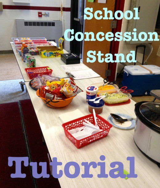 How to run a school concession stand. Here's a small one ready for business.