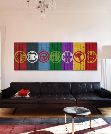 Another great find on #zulily! Avengers Symbols Gallery-Wrapped Canvas by Avengers #zulilyfinds