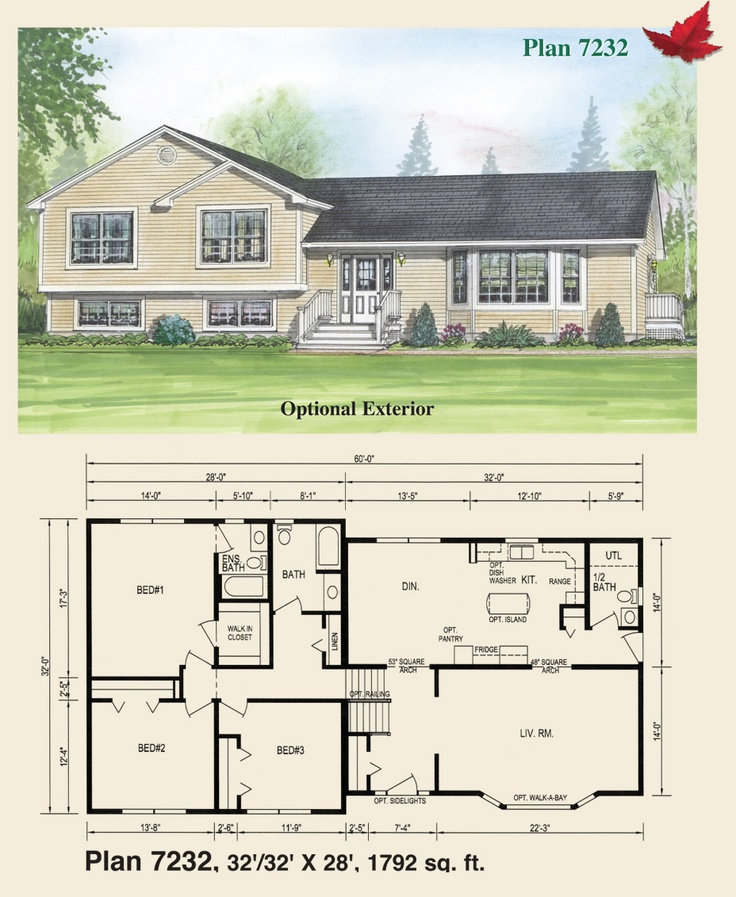 Luxury Split Entry Homes Plans