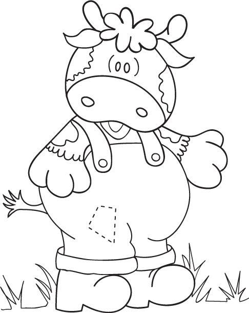 Dibujos y Plantillas para imprimir: Dibujos de vaquitas
