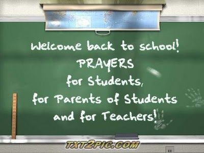 A Concord Pastor Comments: Back to School Prayers 2012