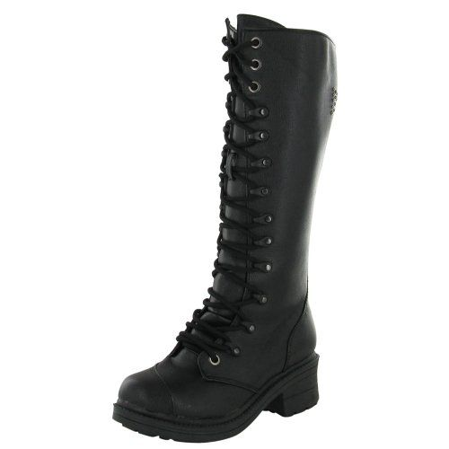 Rivet Head Cross Women's Combat Boots Studded Military *** Read more reviews of the product by visiting the link on the image.