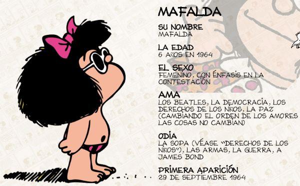 Con la excusa de aprender a describir el físico y el carácter de una persona, vamos a hacer un homenaje a Mafalda, maravilloso personaje creado por Quino, humorista gráfico argentino. Mafalda ya ti...