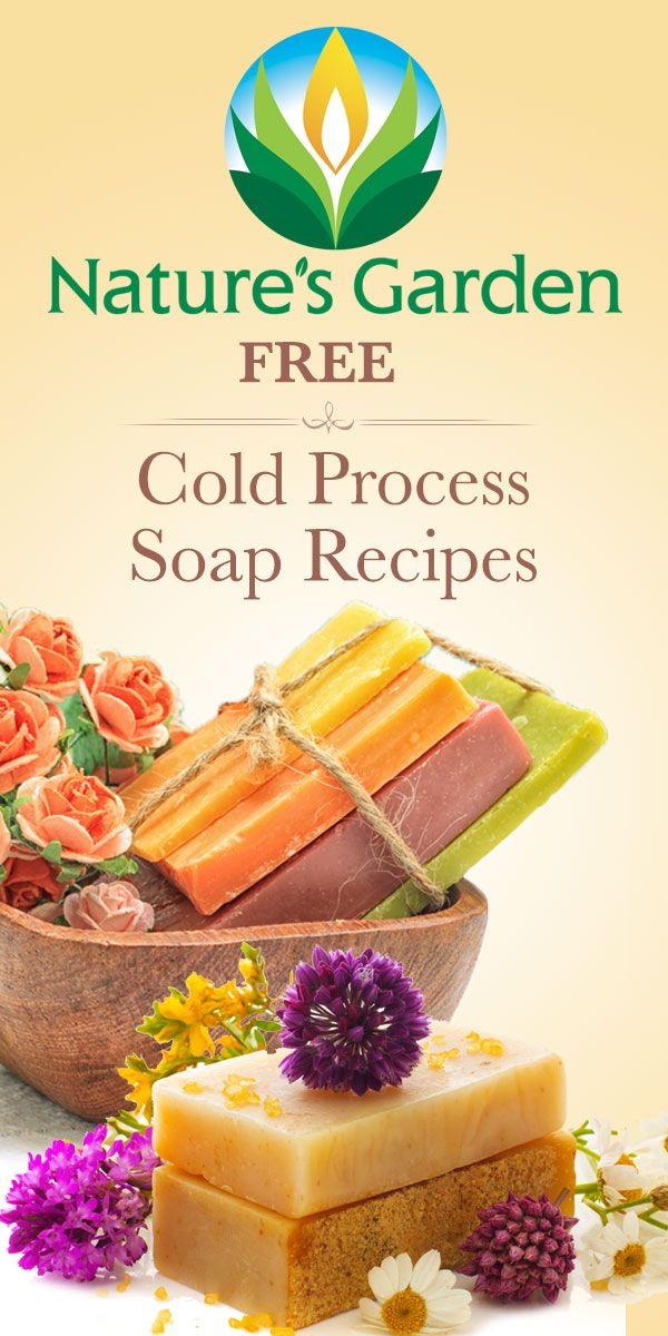 Free Cold Process Soap Recipes from Natures Garden. #soaprecipes