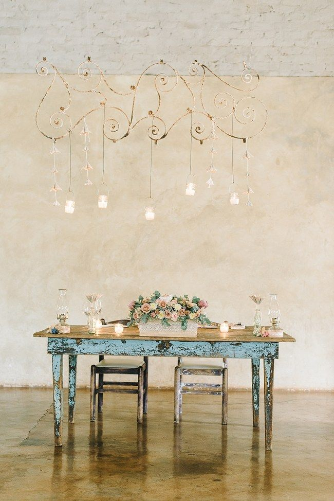 Sweetheart Table :; Wedding Reception Decor :: Pretty paper Flower, Rustic Blush Farm Wedding :: South Africa :: Louise Vorster Photography ...
