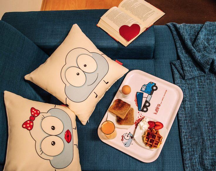 """Iubire pentru 365 zile!"" Breakfast Tray #love #boy #girl #home #cosy #comfort #cute #characters #breakfastinbed #valentines #valentinesday #gift #couple #interiordeco #design"