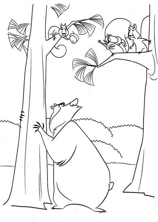 Boog Talking To Another Animal In Open Season Coloring Pages Coloring Pages Coloring Pages For Kids Open Season