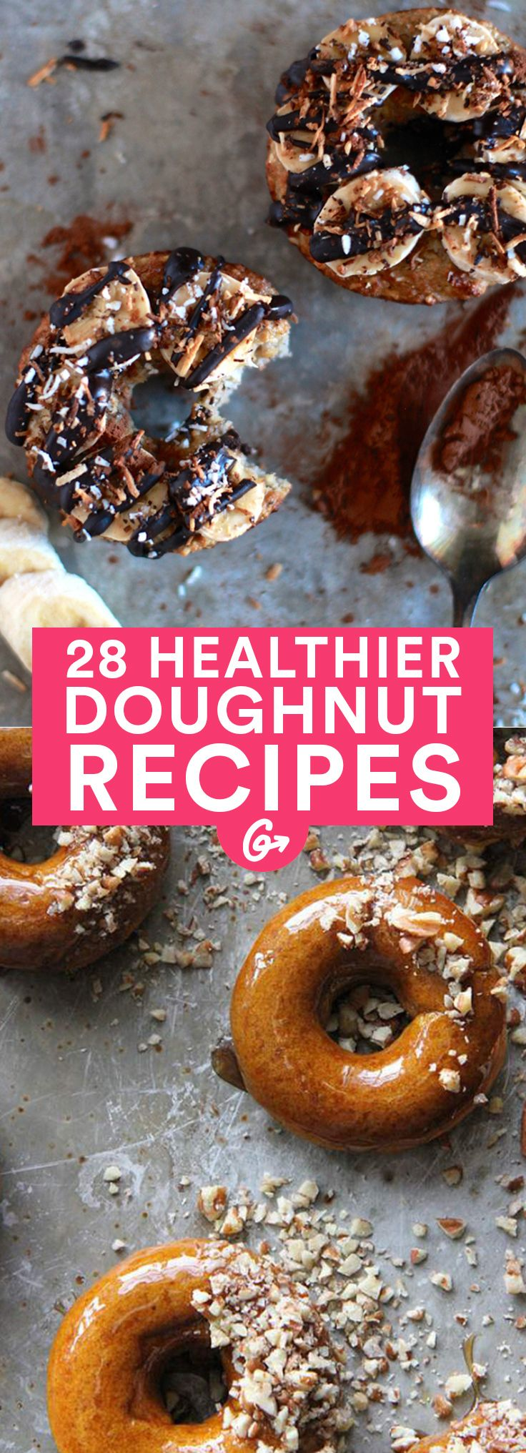 Who doesn't love a good doughnut? #healthy #doughnut #recipes http://greatist.com/health/healthier-donut-recipes