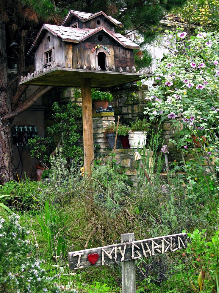 Birdhouses create great focal points