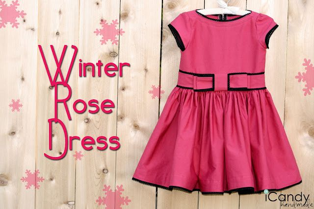 (tutorial and pattern!) Winter Rose Dress for Girl