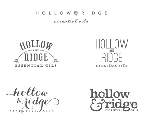 Hollow & Ridge initial logo concepts by Curious & Co. Creative
