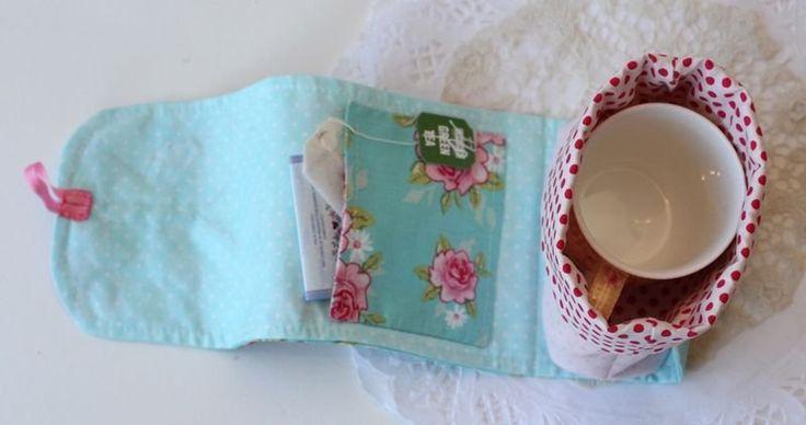 mug rug patterns free | FREE Sew Chic Butterfly Mug Bag Pattern by Bronwyn Hayes of Red Brolly