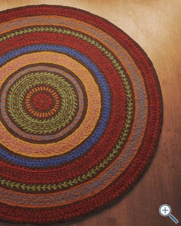 Fair Isle Hooked Wool Rug In Brown Home Wish List