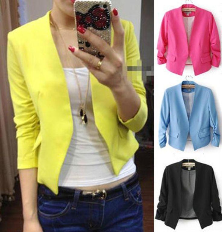 Blazer Feminino Suit Fashion