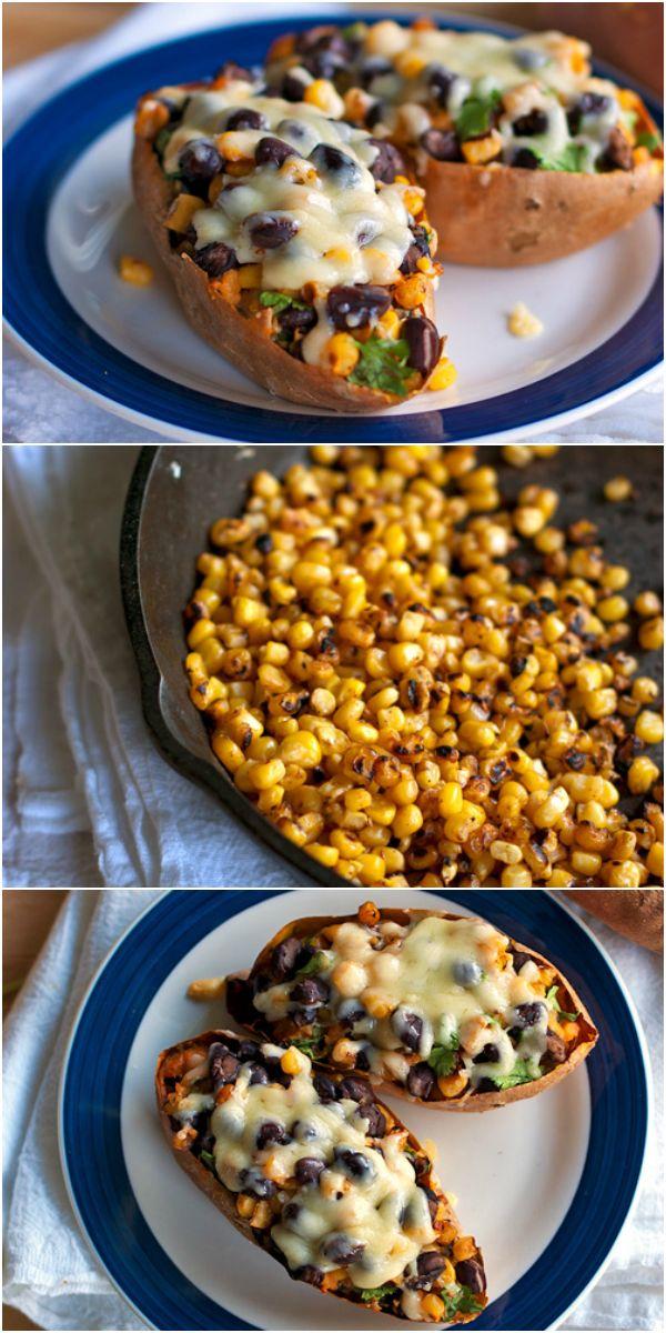 Healthy Mexican Sweet Potato Skins | Pinchofyum.com
